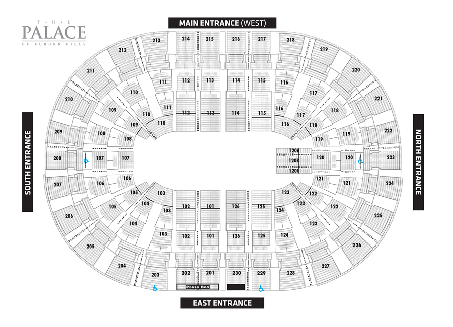Palace Seating Concert Map